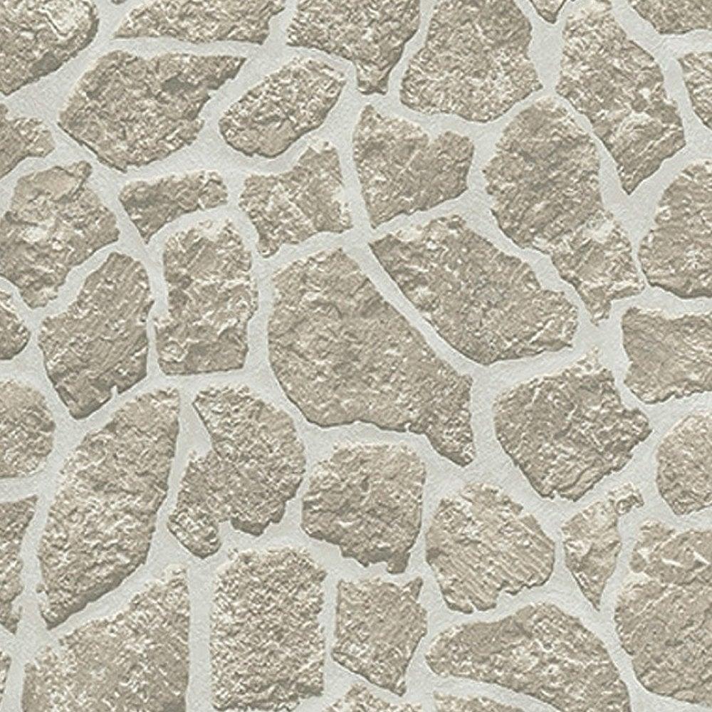 Authentic Wallpaper: Erismann Authentic Brick Wallpaper Soft Grey (6828-10