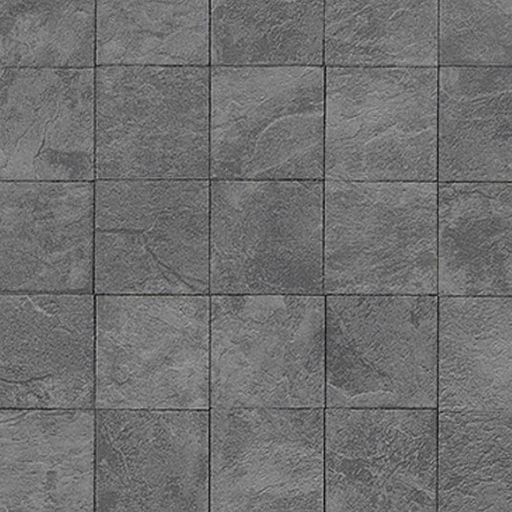 Authentic Wallpaper: Erismann Authentic Tile Wallpaper Charcoal (6825-15