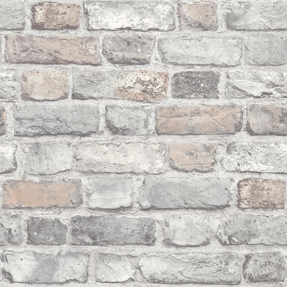 Battersea Brick Wall Effect Wallpaper Pastel