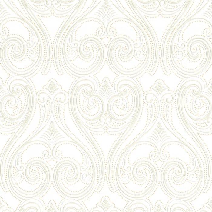 Buy Belgravia Decor Kashmir Wallpaper White Gold