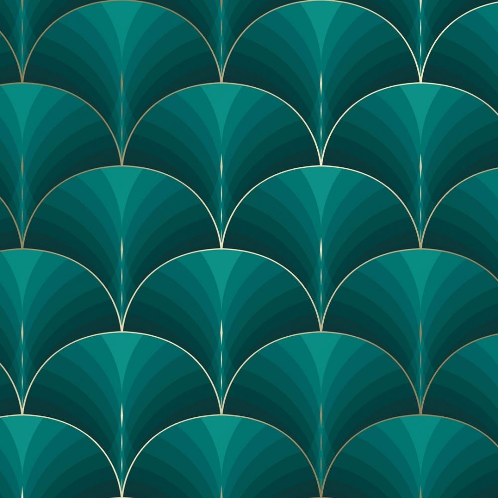 Bella Wallpaper Green
