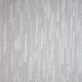 Bergamo Leather Texture Wallpaper Off White Silver