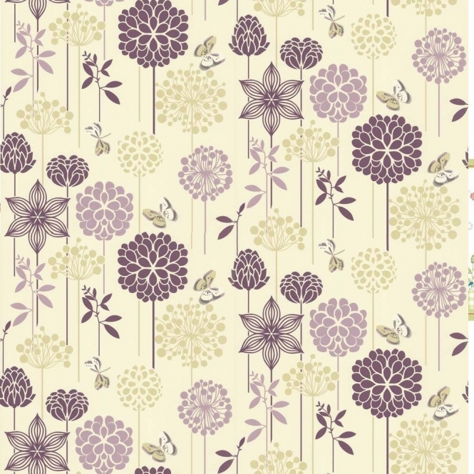 Crown Berry Nice Wallpaper Plum (M0931)