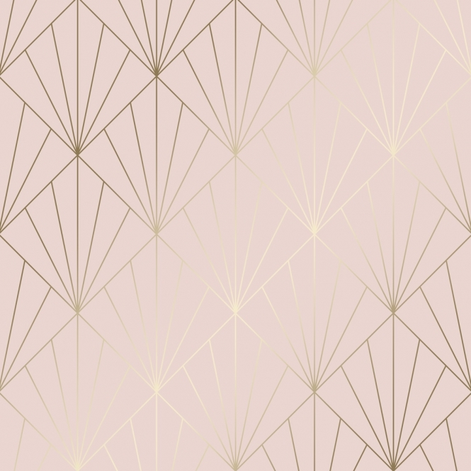 Betty Metallic Wallpaper Pink Gold