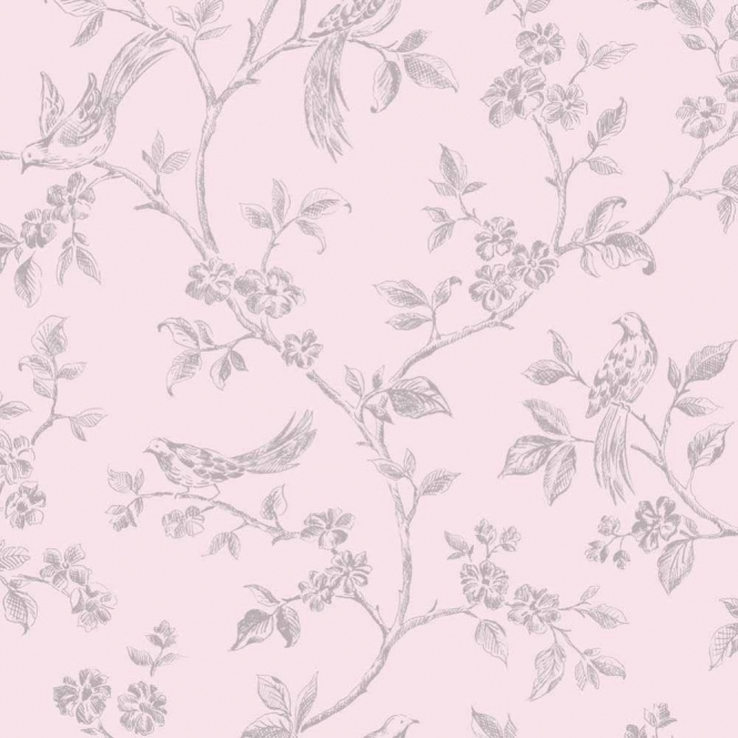 Fine Decor Birds from Live Laugh Love Collection Pink, Silver (FD40292)