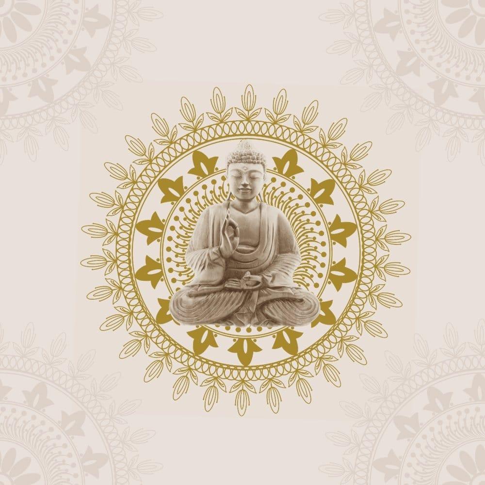 Buddha Wallpaper Cream / Gold (9705)