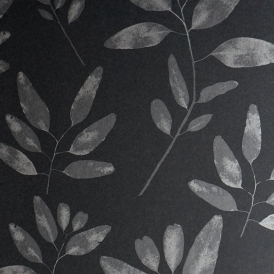 Botanical Hand Screen Printed Leaf Wallpaper Enchanted