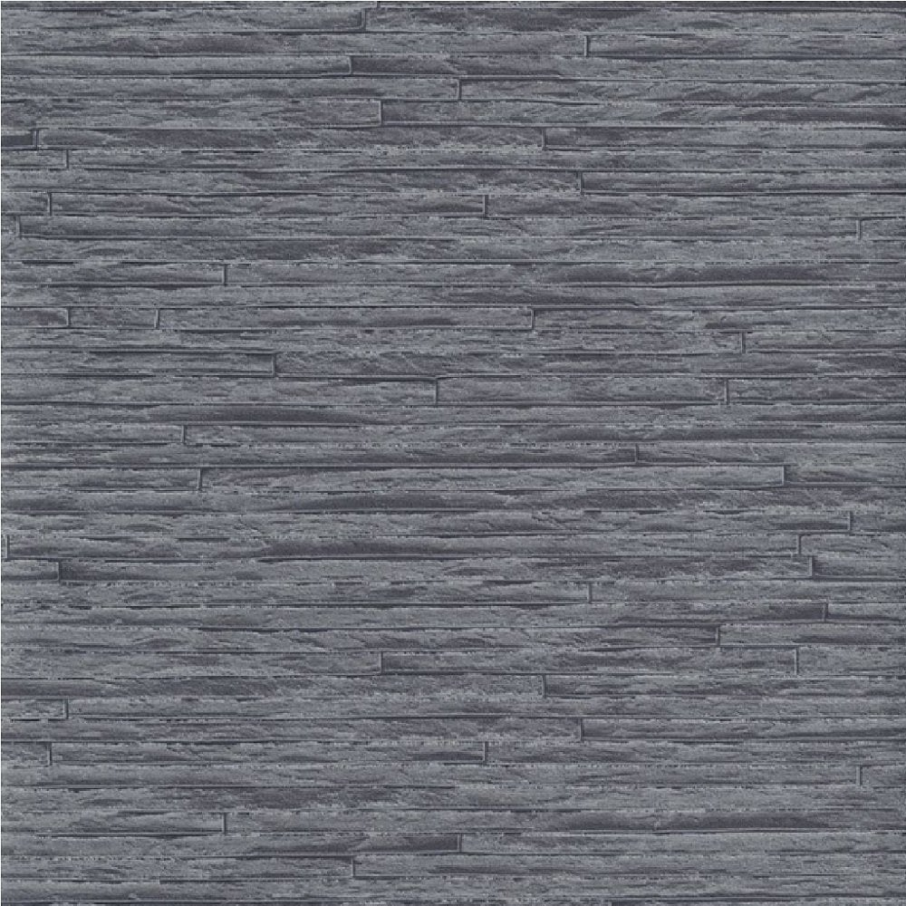 Erismann Brix Slate Brick Effect Wallpaper Grey Black