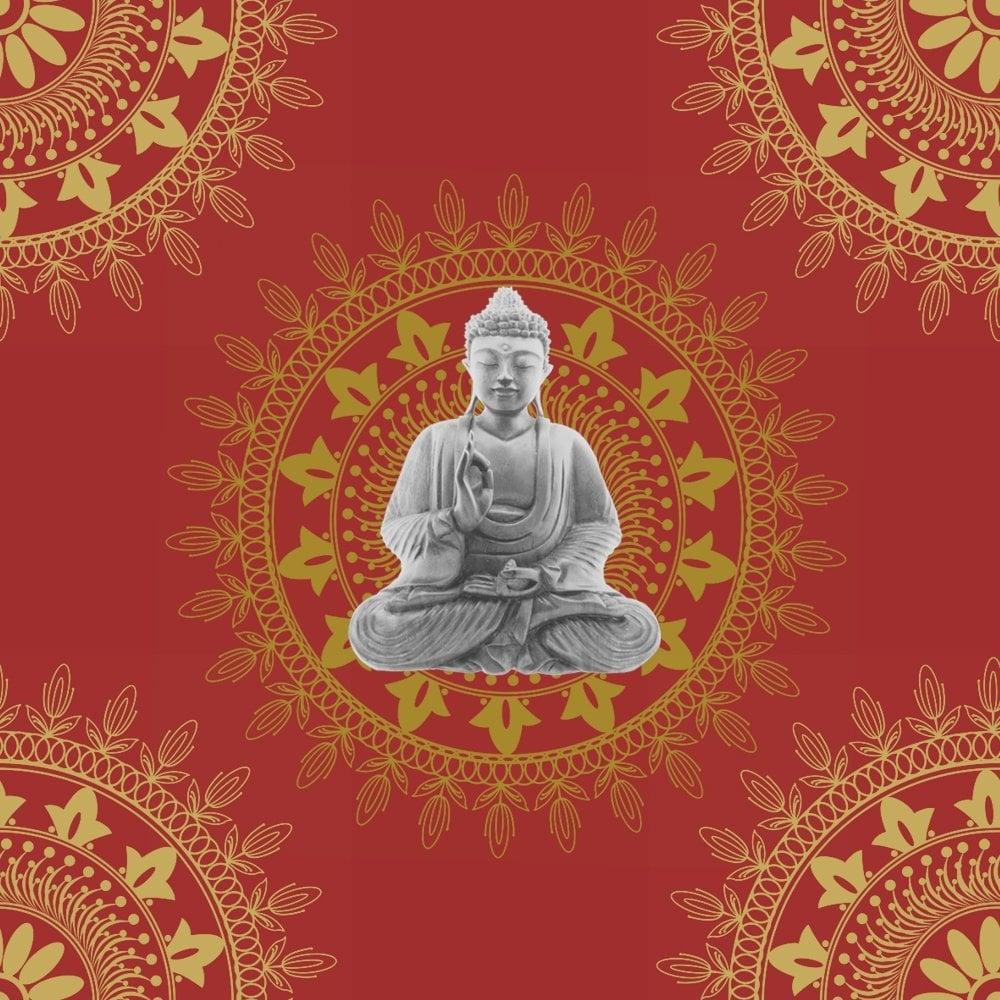 Bonbon Buddha Wallpaper Red Gold 9703 Wallpaper From