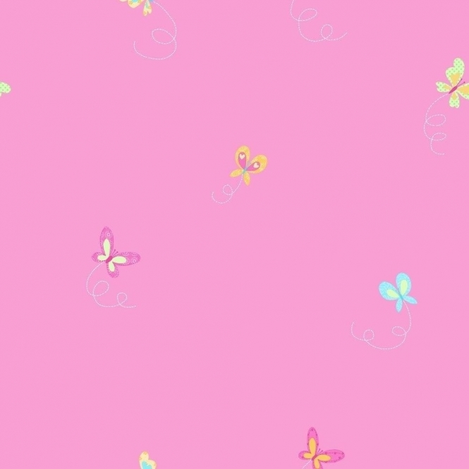 Fine Decor: Hoopla Butterfly Hoopla Wallpaper Pink (DL30703)