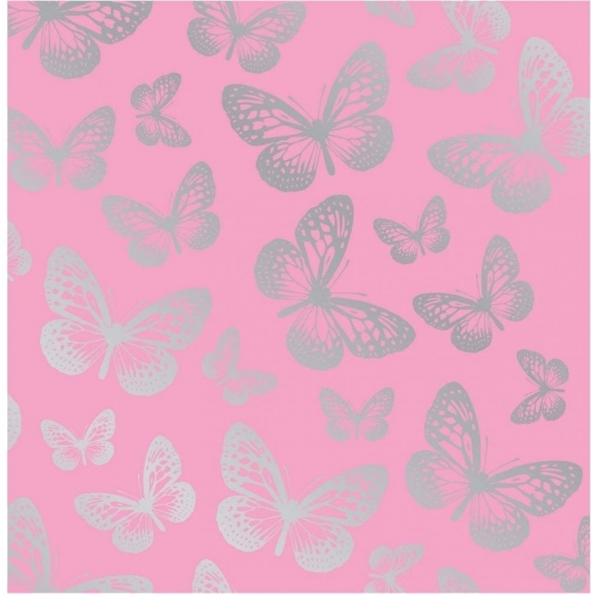 Fine decor fun4walls butterfly metallic wallpaper pink - Butterfly wallpaper homebase ...
