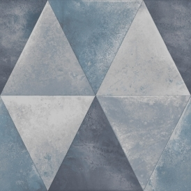 Caden Triangle Wallpaper Blue