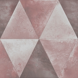 Caden Triangle Wallpaper Pink