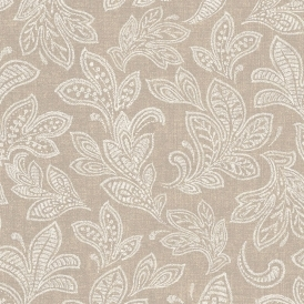 Calico Leaf Wallpaper Hessian