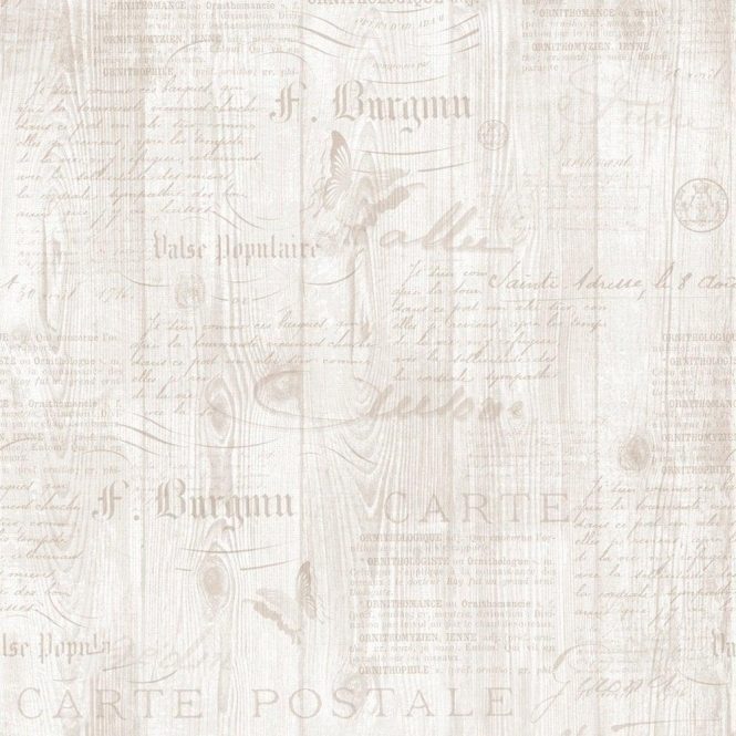 Muriva Calligraphy Wallpaper Natural Cream / Beige (131505)