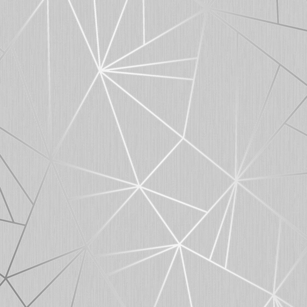 Henderson Interiors Camden Apex Glitter Wallpaper Silver