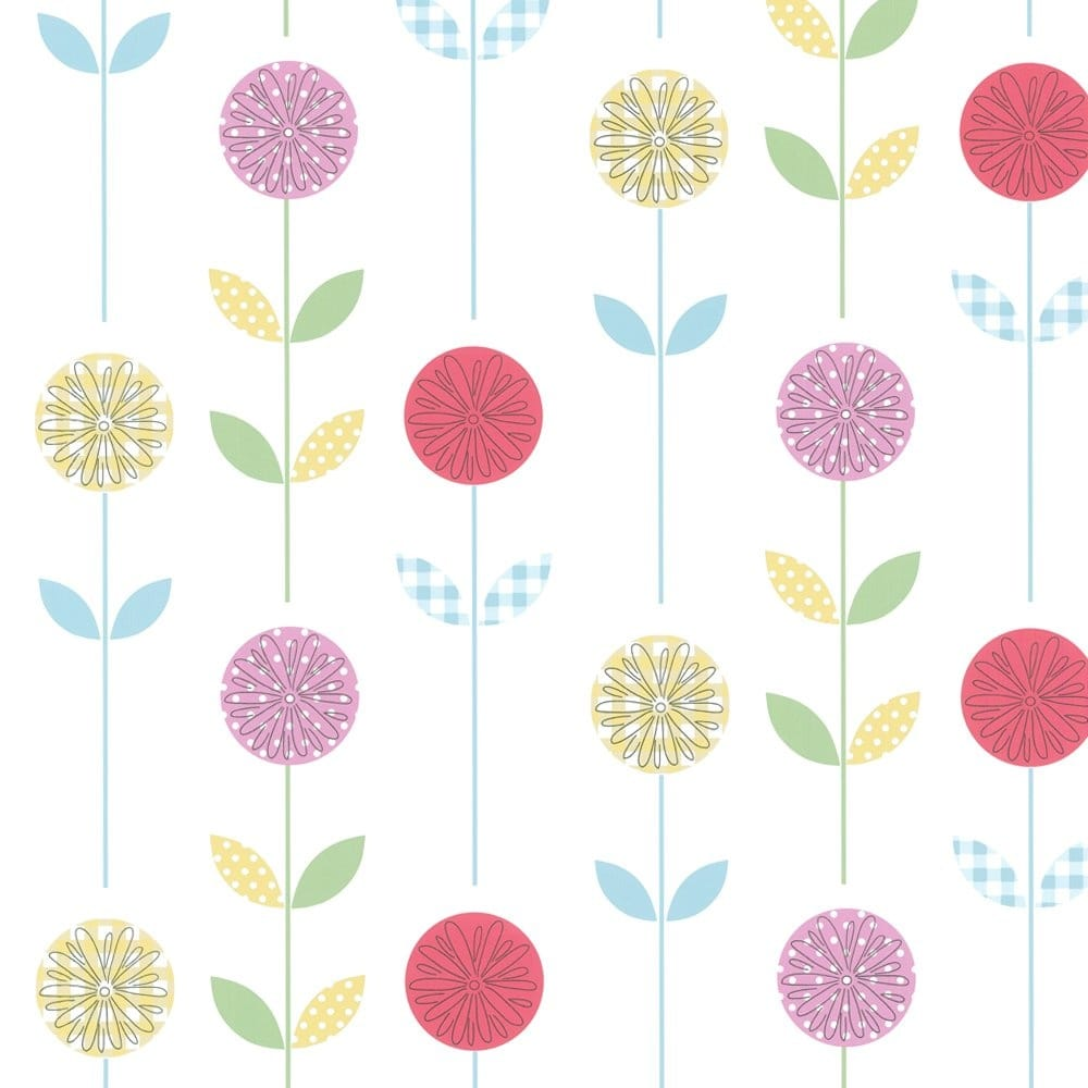 Designer Selection Candy Garden Wallpaper Multi Coloured 824060
