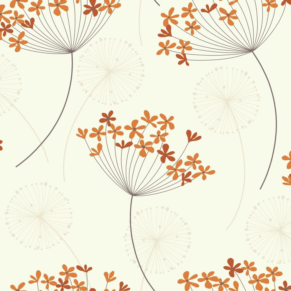 I Love Wallpaper Free Delivery code : I Love Wallpaper capri Wallpaper Orange / cream (407605) - Wallpaper from I Love Wallpaper UK