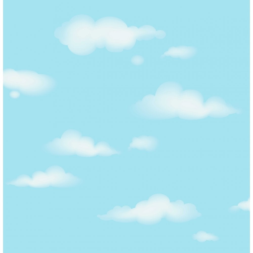 Decorline Carousel Clouds Wallpaper Blue White Dl21136