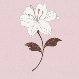 Eva Wallpaper Soft Pink / Cream / Brown (11474107)