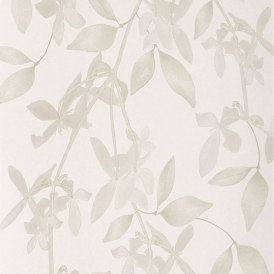 Cascade Hand Screen Printed Floral Wallpaper Linen
