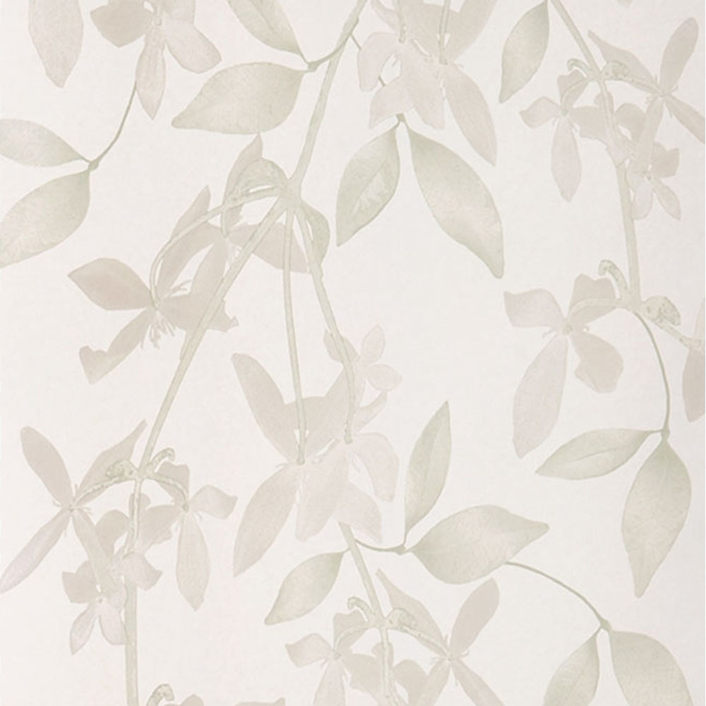 Cascade Hand Screen Printed Floral Wallpaper Linen Wallpaper
