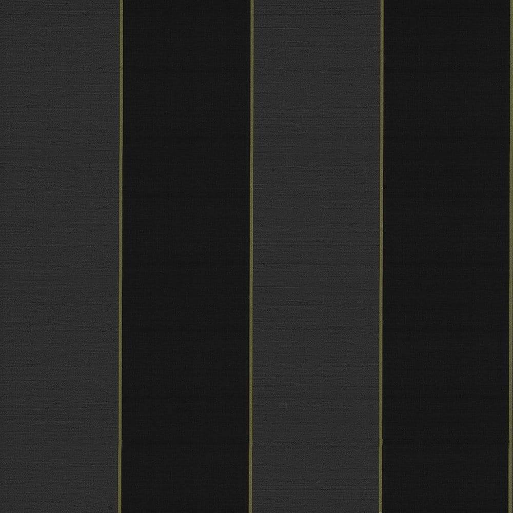 Caselio Bold Stripe Vinyl Wallpaper Black Charcoal