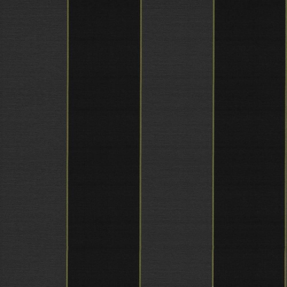Caselio bold stripe vinyl wallpaper black charcoal for Striped vinyl wallpaper