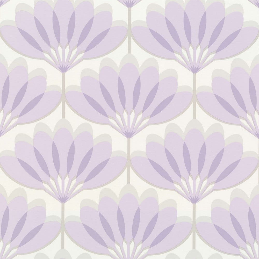 Buy Caselio Cairo Wallpaper Lilac Grey White