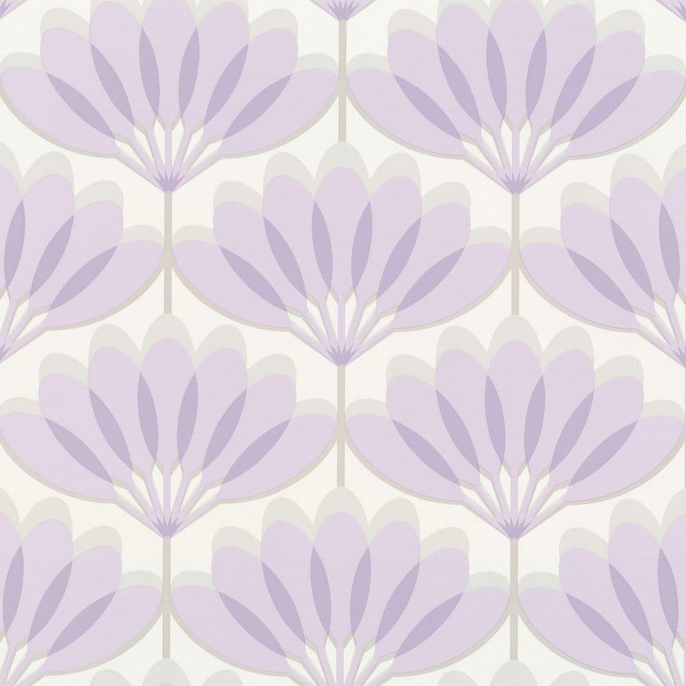 Buy Caselio Cairo Wallpaper Lilac Grey White