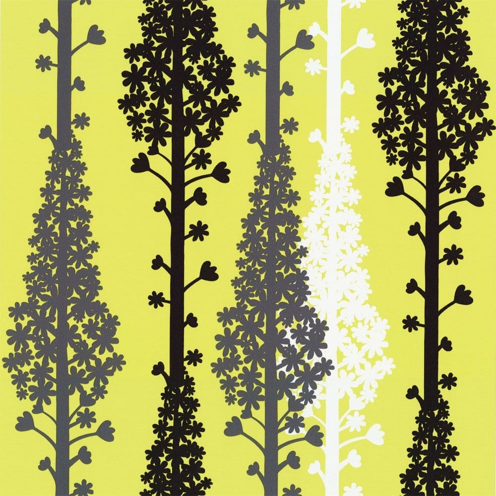 Buy caselio citric wallpaper lime green charcoal grey for Lime green wallpaper for walls