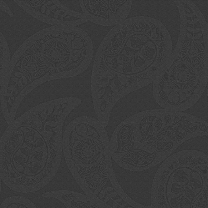 Caselio Midnight 2 Floral Wallpaper Black (19199113)