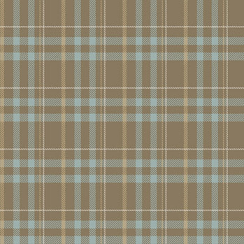 Caselio No Limit Scotland Tartan Wallpaper Beige Blue