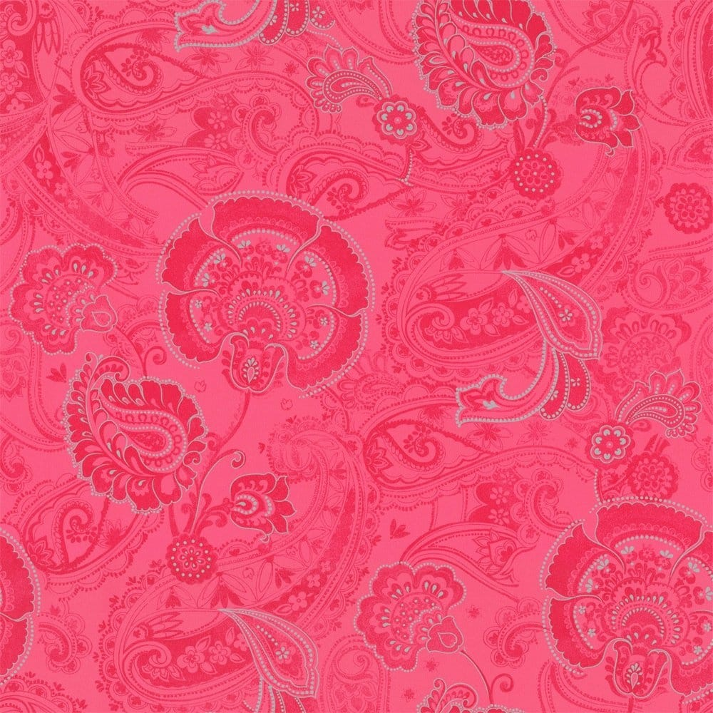 Buy Caselio Paisley Wallpaper Pink Silver
