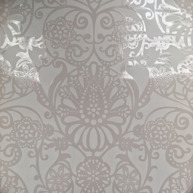 Caselio **Sample** Folklore Ornamental Wallpaper Beige (54911103-SAMPLE)