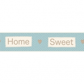 Ceramica Home Sweet Home Self Adhesive Border Blue / Cream (FDB50050)