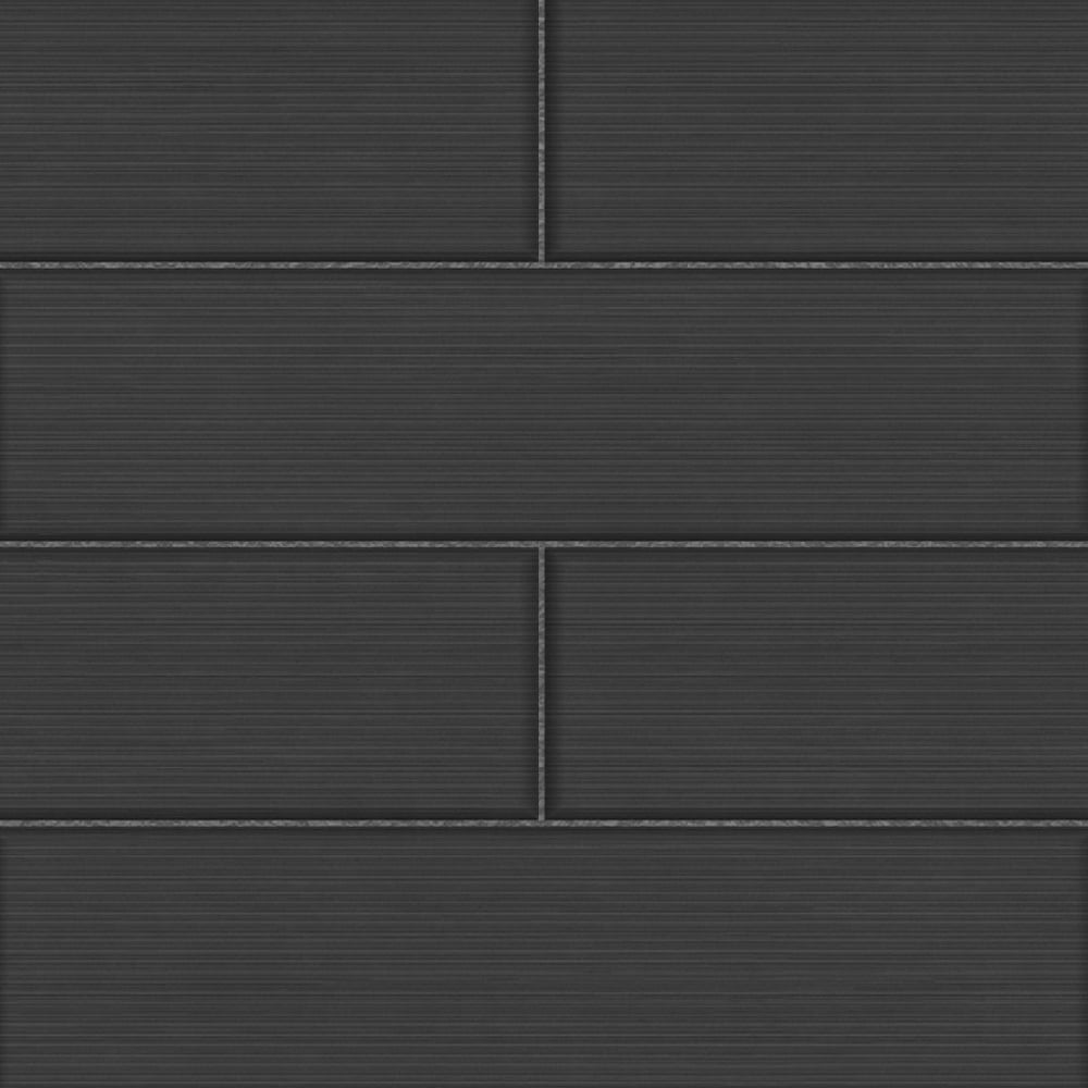 Fine Decor Ceramica Large Tile Effect Wallpaper Black