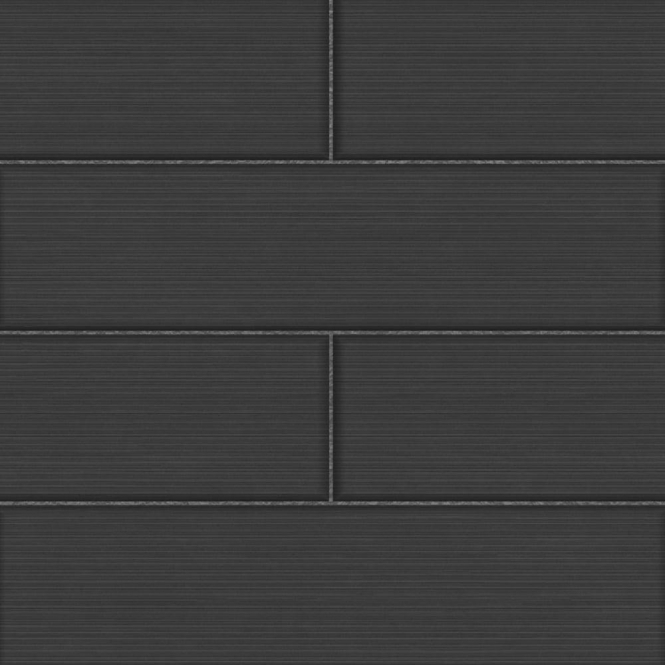Fine Decor Ceramica Large Tile Effect Wallpaper Black / Charcoal (FD40123)