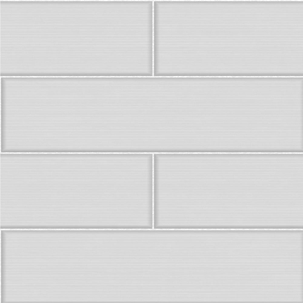 Fine Decor Ceramica Large Tile Effect Wallpaper Soft Grey