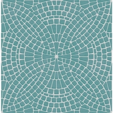 Ceramica Mosaic Tile Effect Wallpaper Teal, Silver (FD40128)