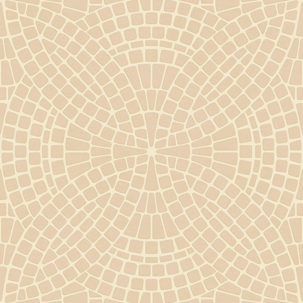 Ceramica Mosaic Tile Effect Washable Wallpaper Cream