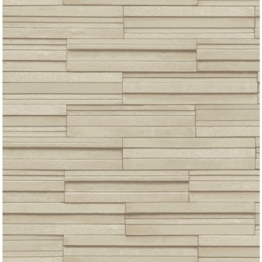 Ceramica Slate Tile Washable Wallpaper Beige (FD40124)