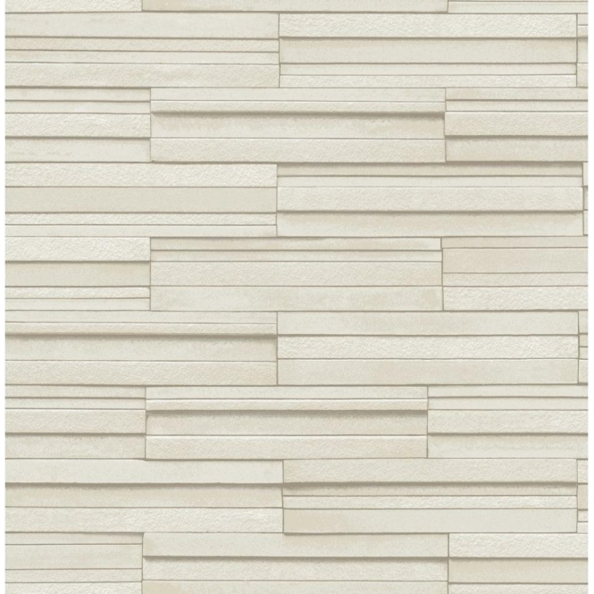 Fine Decor Ceramica Slate Tile Washable Wallpaper Cream (FD40125)