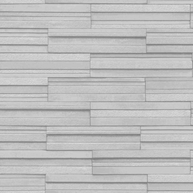 Fine Decor Ceramica Slate Tile Washable Wallpaper Grey (FD40127)