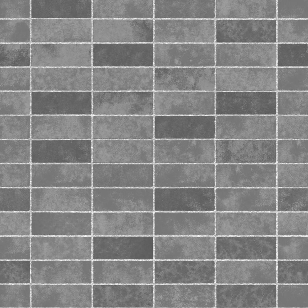 Fine Decor Ceramica Small Tile Effect Wallpaper Slate