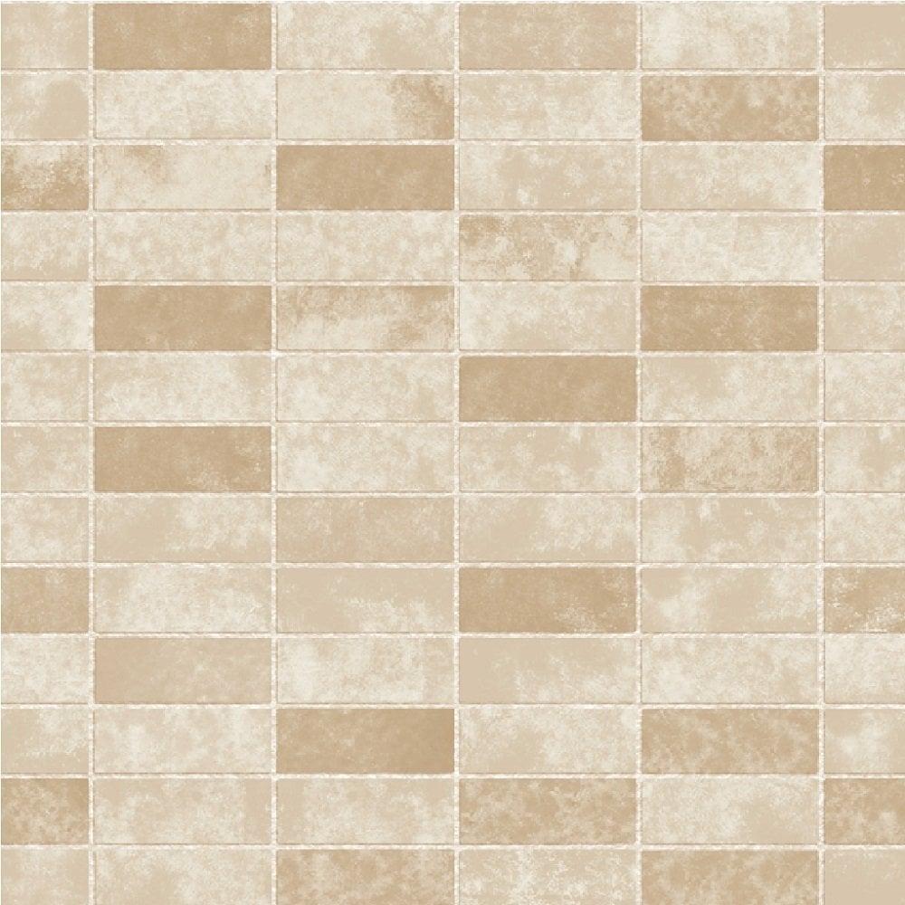 fine decor ceramica small tile effect wallpaper taupe cream fd40118 wallpaper from i love. Black Bedroom Furniture Sets. Home Design Ideas