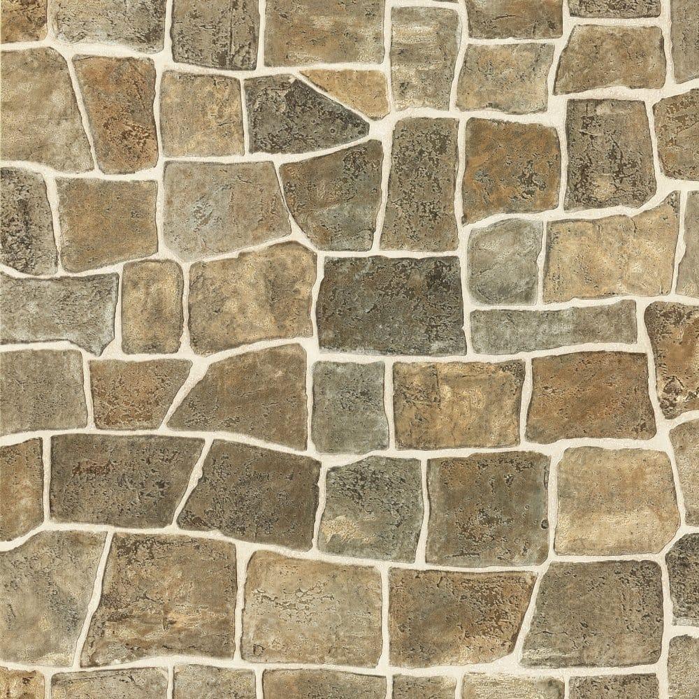 Fine Decor Ceramica Stone Wall Brick Effect Wallpaper