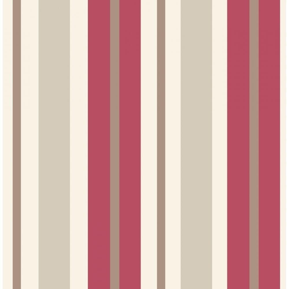 Red And White Patterned Wallpaper: Fine Decor Ceramica Stripe Wallpaper Red / Beige / Cream