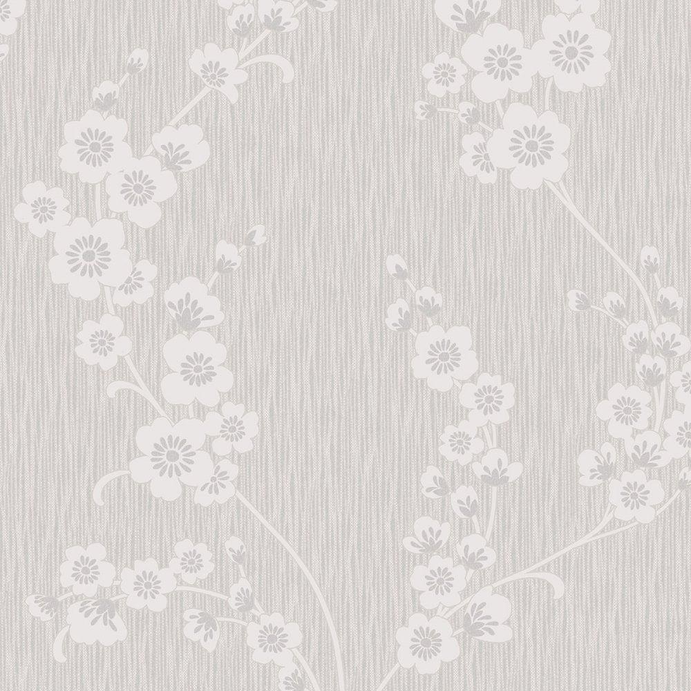 Henderson Interiors Chelsea Glitter Floral Wallpaper Soft