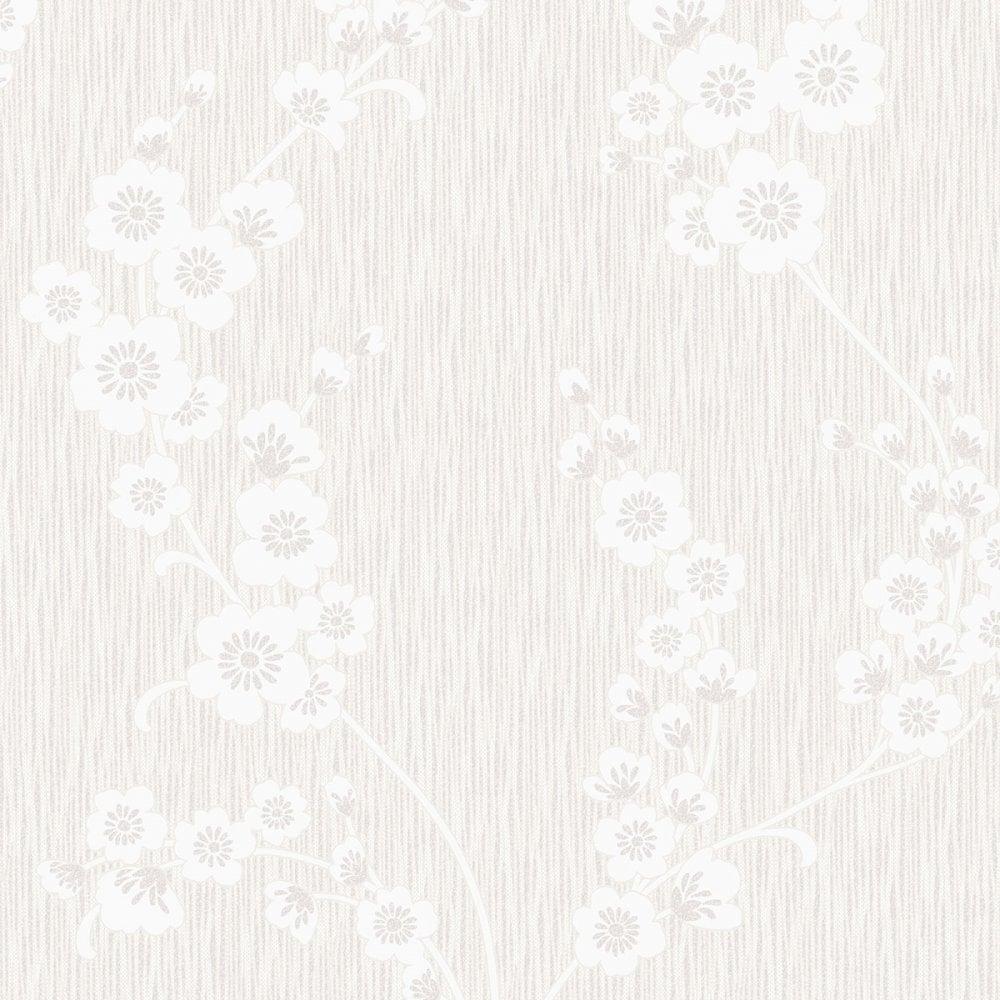henderson interiors chelsea glitter floral wallpaper white. Black Bedroom Furniture Sets. Home Design Ideas